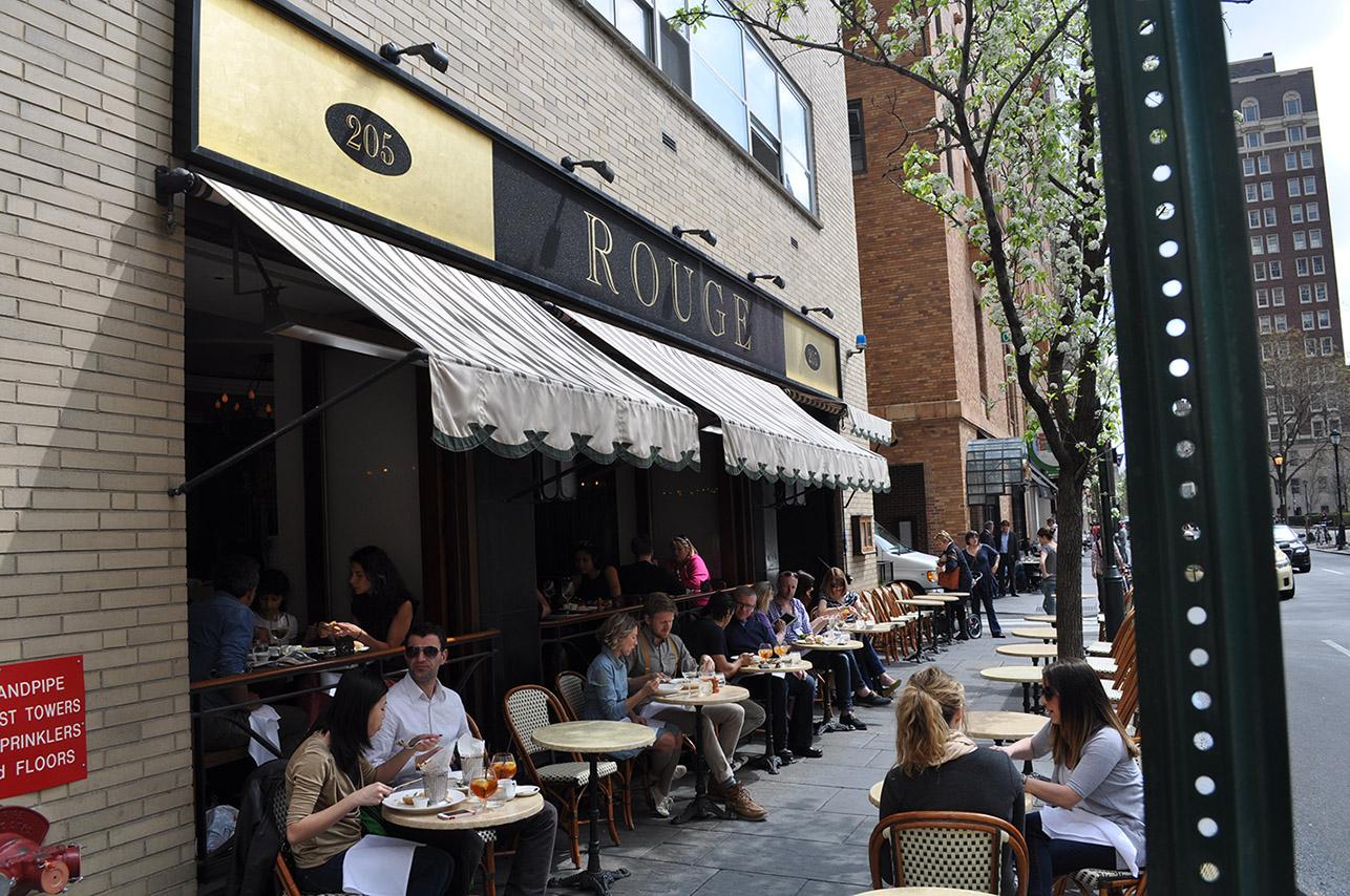 Rouge Restaurant outside dining in Philadelphia